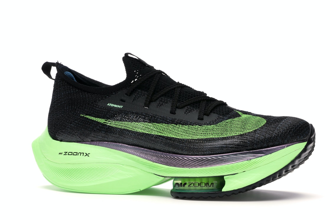 2020 Womens Cheap Wholesale Nike Air Zoom Alphafly Next Black Electric Green CI9925-400 - www.wholesaleflyknit.com