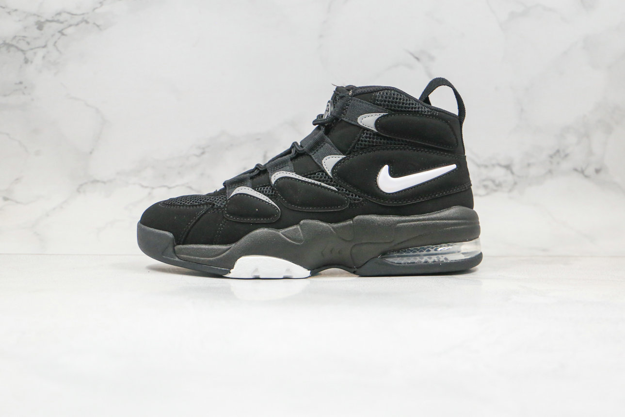2020 Womens Cheapest Nike Air Max Uptempo 2 Black White Dark Shadow 472490-010 - www.wholesaleflyknit.com