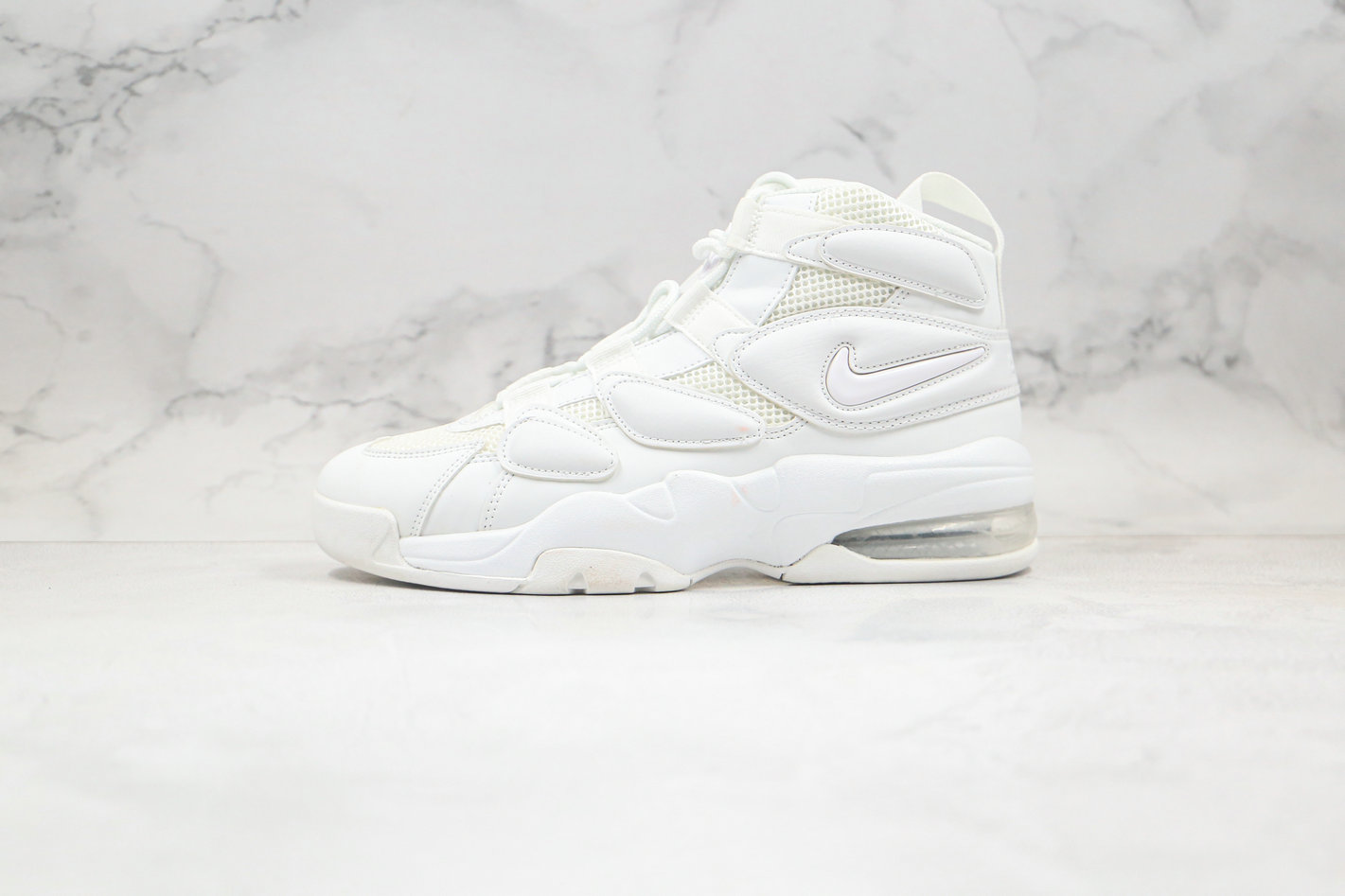 2020 Womens Cheapest Nike Air Max Uptempo 2 Triple White 922934-100 - www.wholesaleflyknit.com
