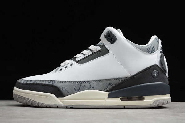 2021 Wholesale Cheap Wholesale Cheap KAWS X Nike Air Jordan 3 Fresh Water White Light Grey 930155-003 - www.wholesaleflyknit.com