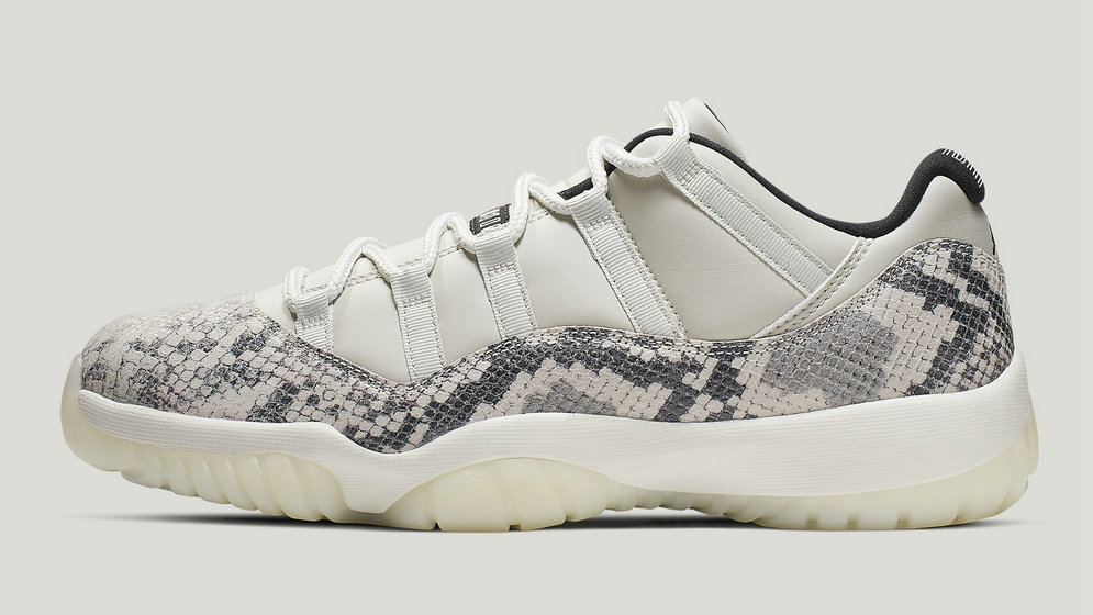 2021 Wholesale Cheap Nike Air Jordan 11 Low SE Snakeskin Light Bone University Red-Sail-Black CD6846-002 - www.wholesaleflyknit.com