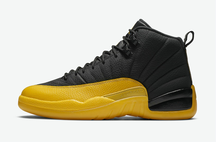 2021 Wholesale Cheap Nike Air Jordan 12 Black-Black-University Gold 130690-070 - www.wholesaleflyknit.com