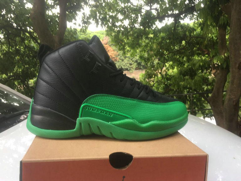 2021 Wholesale Cheap Nike Air Jordan 12 Black Green - www.wholesaleflyknit.com
