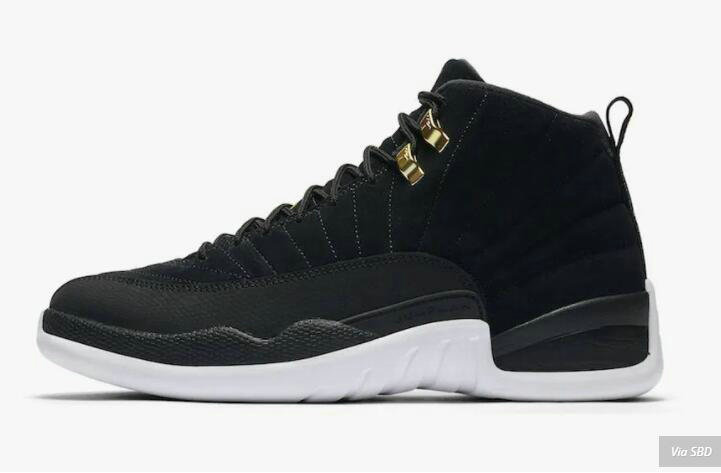 2021 Wholesale Cheap Nike Air Jordan 12 Reverse Taxi Black White Noir Blanc 130690-017 - www.wholesaleflyknit.com