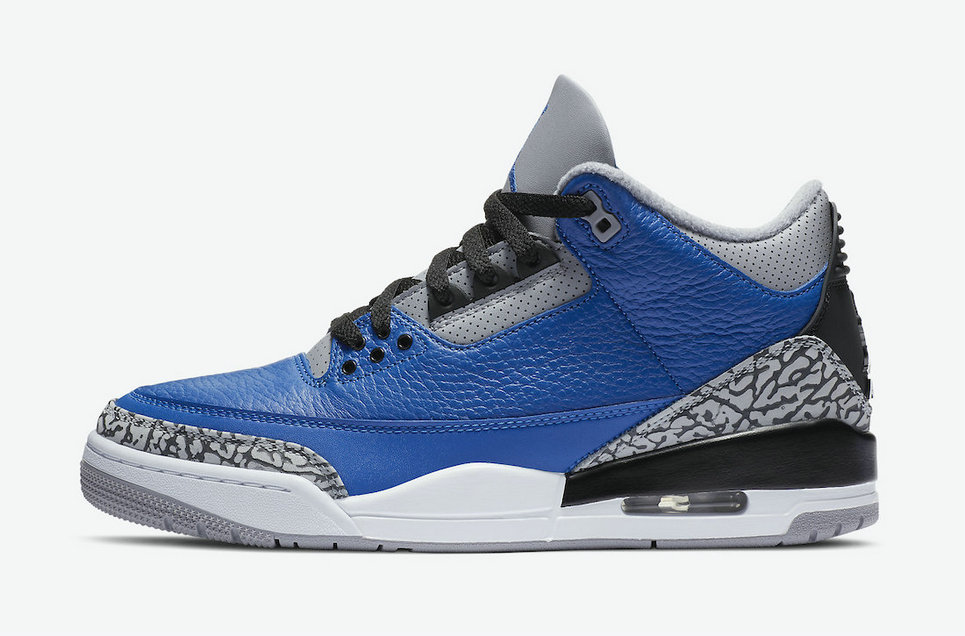 2021 Wholesale Cheap Nike Air Jordan 3 Blue Cement Varsity Royal Varsity Royal-Cement Grey CT8532-400 - www.wholesaleflyknit.com
