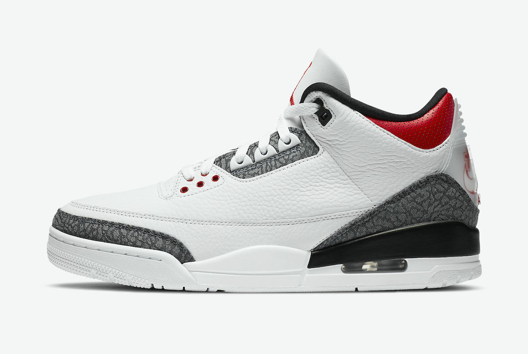 2021 Wholesale Cheap Nike Air Jordan 3 SE-T Fire Red White Fire Red-Black CZ6433-100 - www.wholesaleflyknit.com