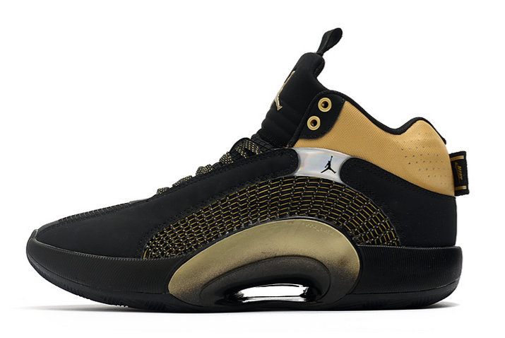 2021 Wholesale Cheap Nike Air Jordan 35 XXXV Black Metallic Gold - www.wholesaleflyknit.com