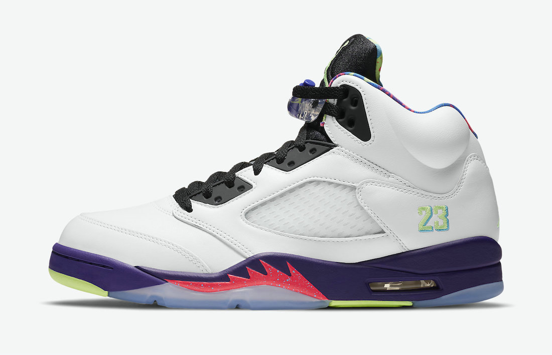2021 Wholesale Cheap Nike Air Jordan 5 Alternate Bel-Air White Court Purple-Racer Pink-Ghost Green DB3335-100 - www.wholesaleflyknit.com