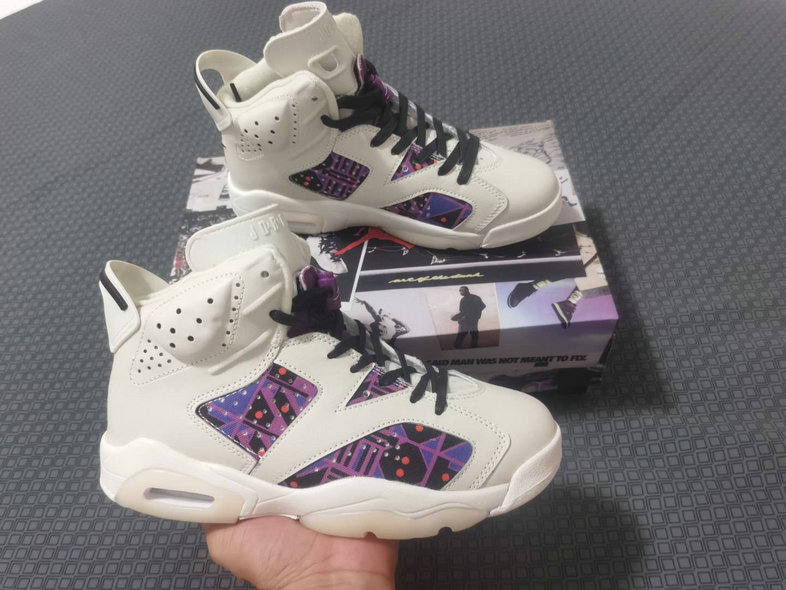 2021 Wholesale Cheap Nike Air Jordan 7 White Purple - www.wholesaleflyknit.com