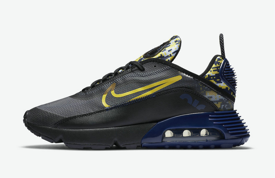 2021 Wholesale Cheap Nike Air Max 2090 Black Camouflage Dark Blue Deep Blue DB6521-001 - www.wholesaleflyknit.com