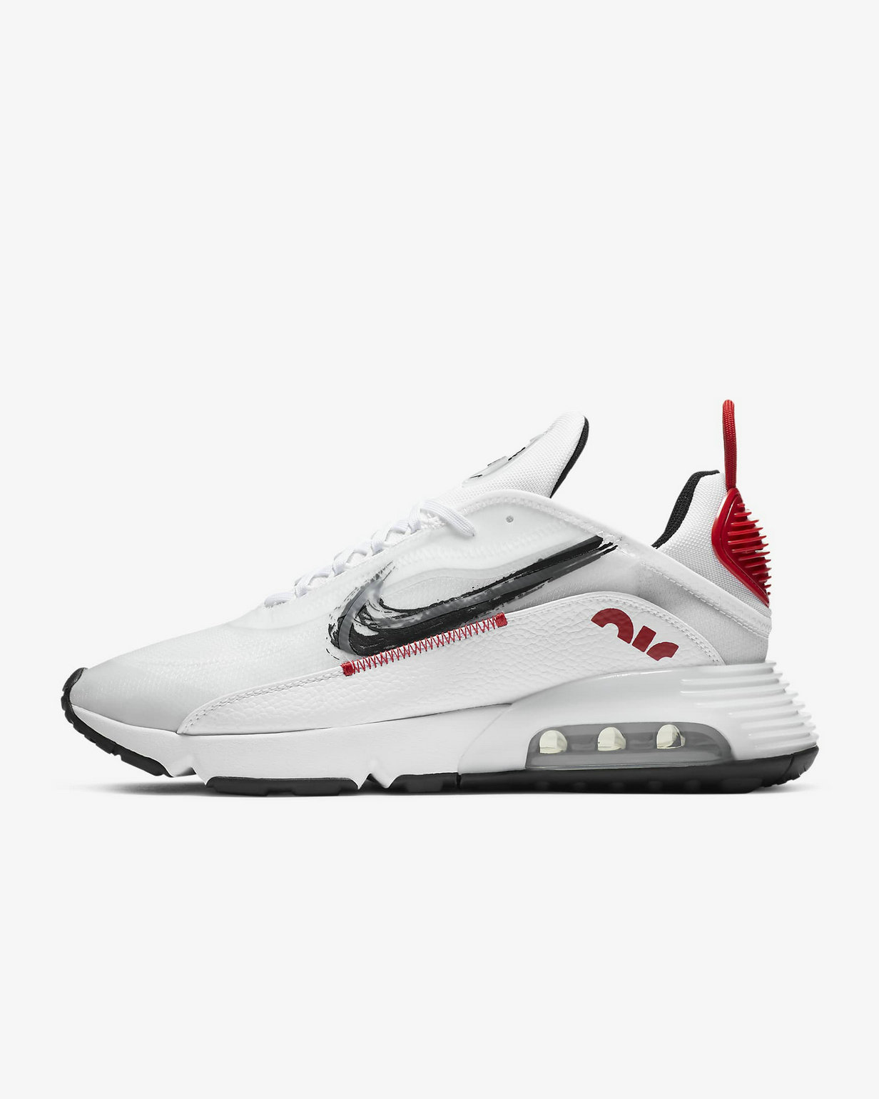 2021 Wholesale Cheap Nike Air Max 2090 White University Red Black DA4304-100 - www.wholesaleflyknit.com