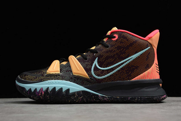 2021 Wholesale Cheap Nike Kyrie 7 Pre Heat Ep Black Yellow Red Online DC0588-002 - www.wholesaleflyknit.com