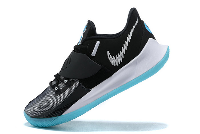 2021 Wholesale Cheap Nike Kyrie Low 3 Black White-Icy Blue Outlet Sale CJ1286-001 - www.wholesaleflyknit.com
