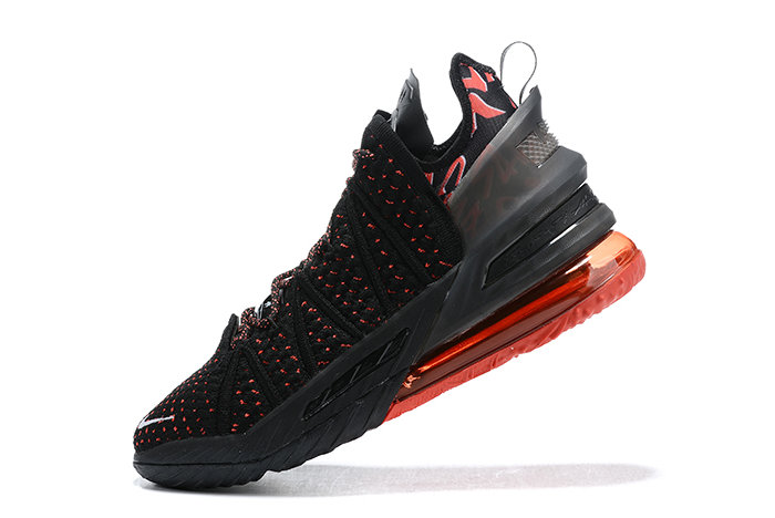 2021 Wholesale Cheap Nike Lebron 18 Bred Black Red-White Outlet - www.wholesaleflyknit.com