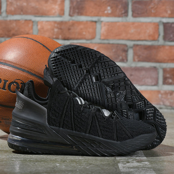 2021 Wholesale Cheap Nike Lebron James 18 All Black - www.wholesaleflyknit.com