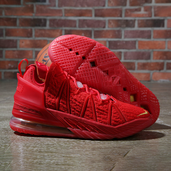 2021 Wholesale Cheap Nike Lebron James 18 Sport Red Gold - www.wholesaleflyknit.com