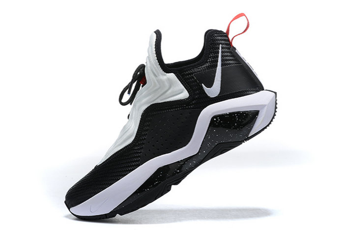 2021 Wholesale Cheap Nike Lebron Soldier 14 Bred Black White Red CK6047-002 - www.wholesaleflyknit.com