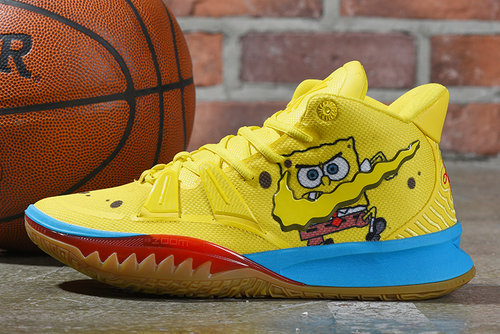 2021 Wholesale Cheap Spongebob Squarepants X Nike Kyrie 7 Spongebob Opti Yellow - www.wholesaleflyknit.com