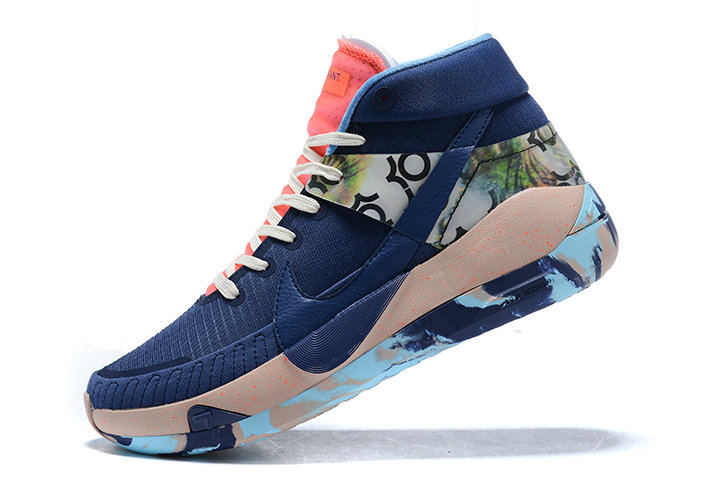 2021 HOT SELL MENS NIKE KD 13 MIDNIGHT NAVY PINK-BLUE SNEAKERS ON SALE - www.wholesaleflyknit.com