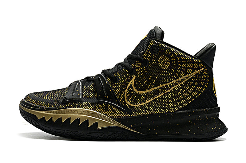2021 Kids Wholesale Cheap Nike Kyrie Irving 7 Gold Black - www.wholesaleflyknit.com