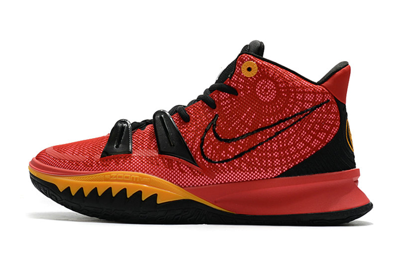 2021 Kids Wholesale Cheap Nike Kyrie Irving 7 Red Black Gold - www.wholesaleflyknit.com