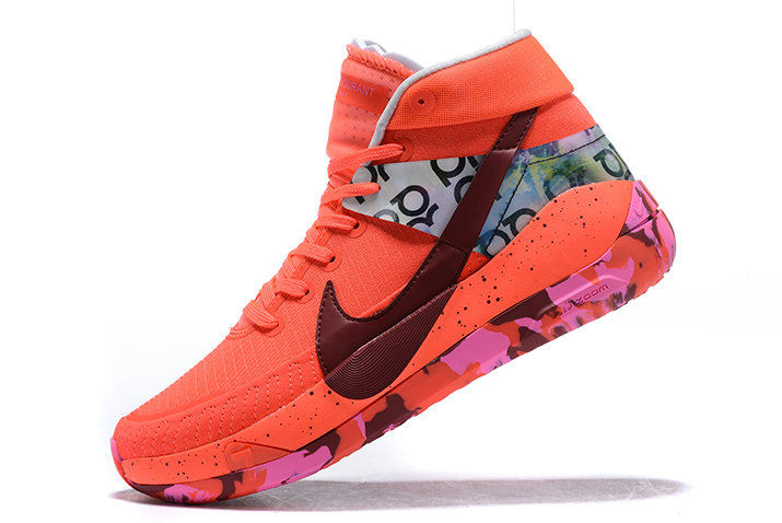 2021 NEWNESS NIKE KD 13 RED MULTI-COLOR RUNNING SHOES - www.wholesaleflyknit.com