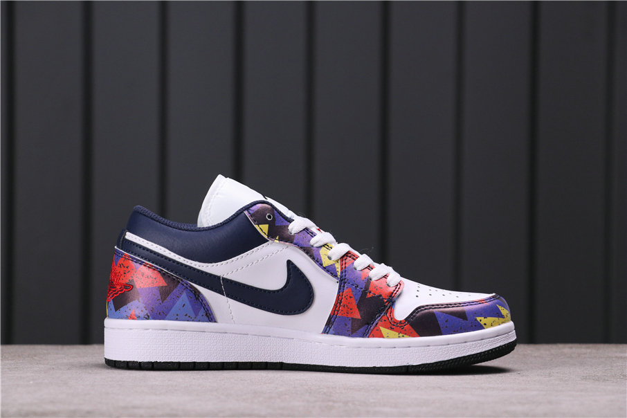 2021 Where To Buy Wholesale Cheap Air Jordan 1 Low Nothing But Net White Dark Obsidian-Team Red CZ8659-100 - www.wholesaleflyknit.com