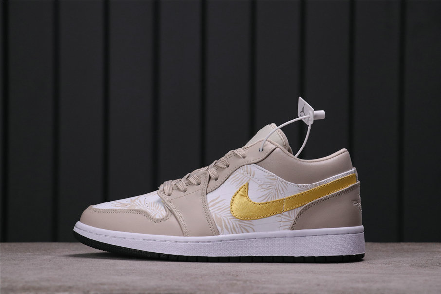 2021 Where To Buy Wholesale Cheap Air Jordan 1 Low Palm Tree Light Orewood Brown Amarillo-White-Laser Blue CK3022-107 - www.wholesaleflyknit.com