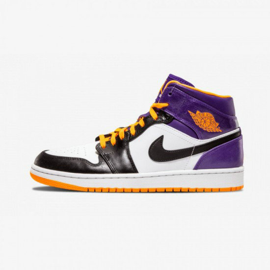 2021 Where To Buy Wholesale Cheap Air Jordan 1 MID Phoenix Suns Black Leather White Bright Ctrs 554724 117 - www.wholesaleflyknit.com