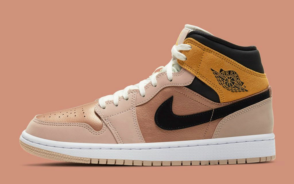 2021 Where To Buy Wholesale Cheap Air Jordan 1 Mid SE Bronze Toe Particle Beige Black-Metallic Red Bronze DD2224-200 - www.wholesaleflyknit.com