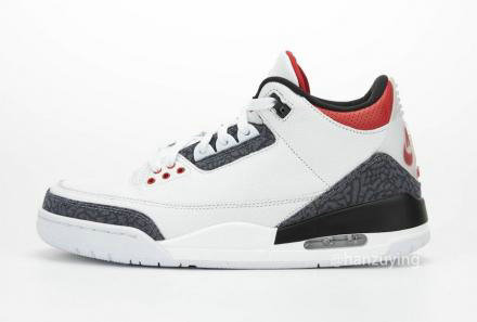 2021 Where To Buy Wholesale Cheap Air Jordan 3 Retro se Denim vermelho fogo CZ6431-100 - www.wholesaleflyknit.com