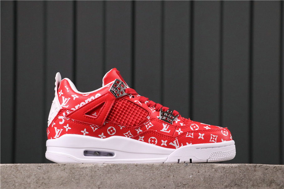 2021 Where To Buy Wholesale Cheap Air Jordan 4 Retro White Red AQ9129-020 - www.wholesaleflyknit.com