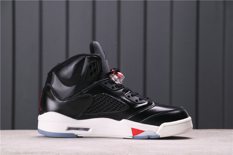 2021 Where To Buy Wholesale Cheap Air Jordan 5 Black University Red White - www.wholesaleflyknit.com