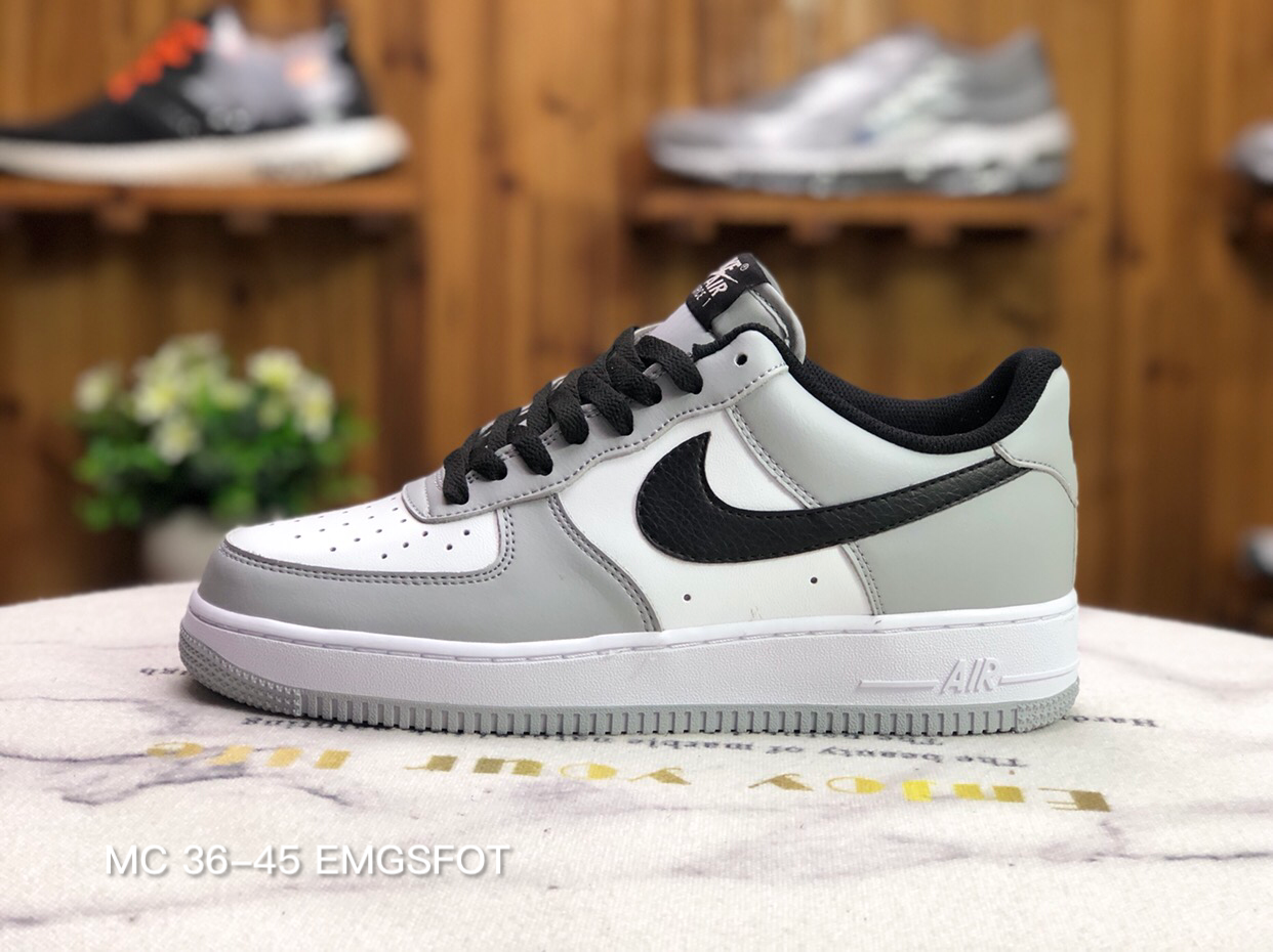 2021 Where To Buy Wholesale Cheap Nike Air Force 1 07 SU19 White Black Grey CN6403-105 - www.wholesaleflyknit.com