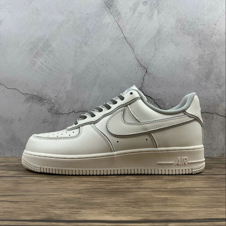 2021 Where To Buy Wholesale Cheap Nike Air Force 1 Beige Silver Refractive BQ3654-506 - www.wholesaleflyknit.com