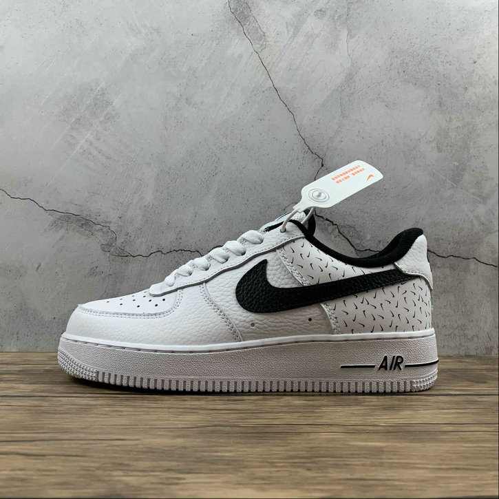 2021 Where To Buy Wholesale Cheap Nike Air Force 1 Low 07 White Black Swooshfetti Print DC9189-100 - www.wholesaleflyknit.com