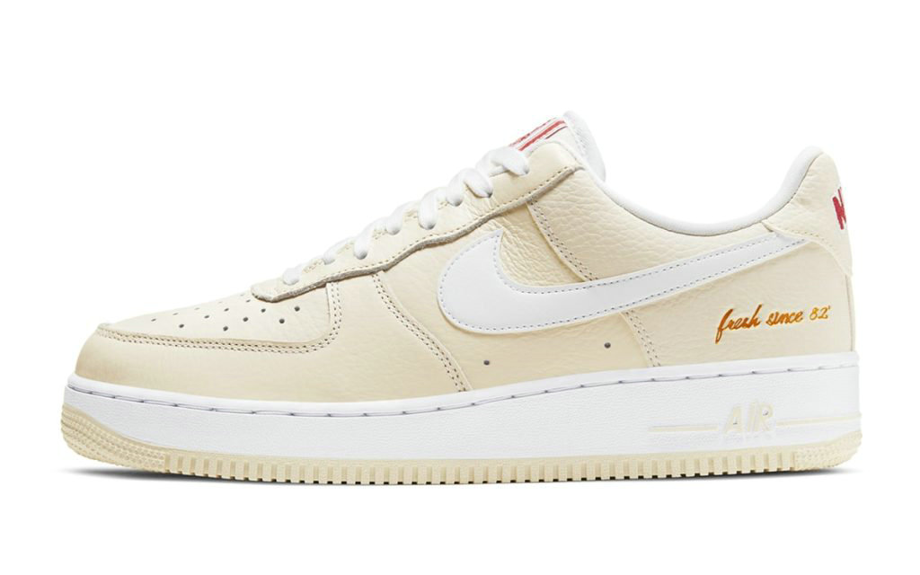 2021 Where To Buy Wholesale Cheap Nike Air Force 1 Low PRM Popcorn Coconut Milk White-University Red CW2919-100 - www.wholesaleflyknit.com