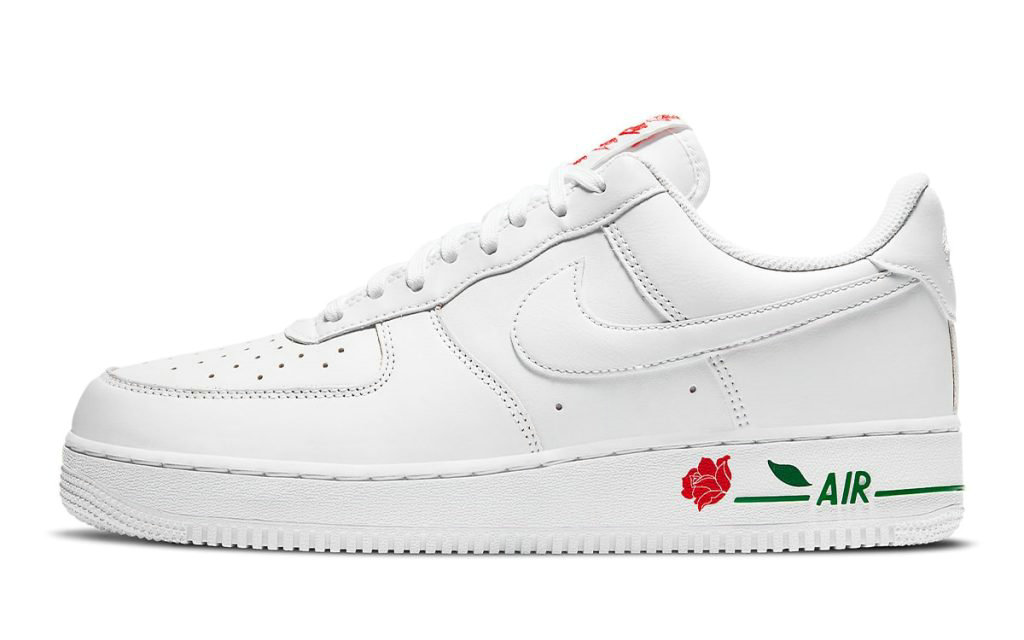 2021 Where To Buy Wholesale Cheap Nike Air Force 1 Low Rose White University Red-Pine Green CU6312-100 - www.wholesaleflyknit.com