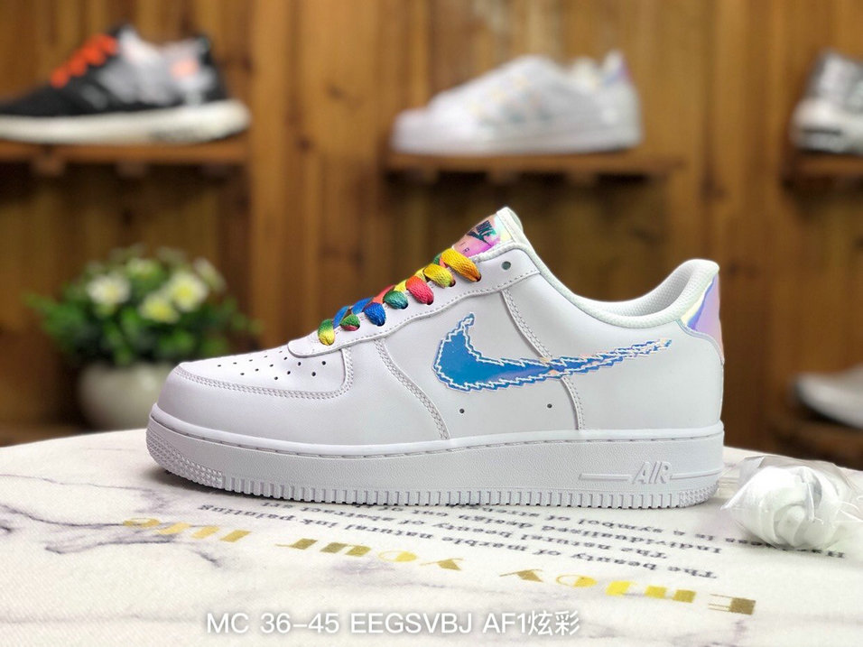 2021 Where To Buy Wholesale Cheap Nike Air Force 1 Pixel Swoosh White Multi-Color Black CV1699-100 - www.wholesaleflyknit.com