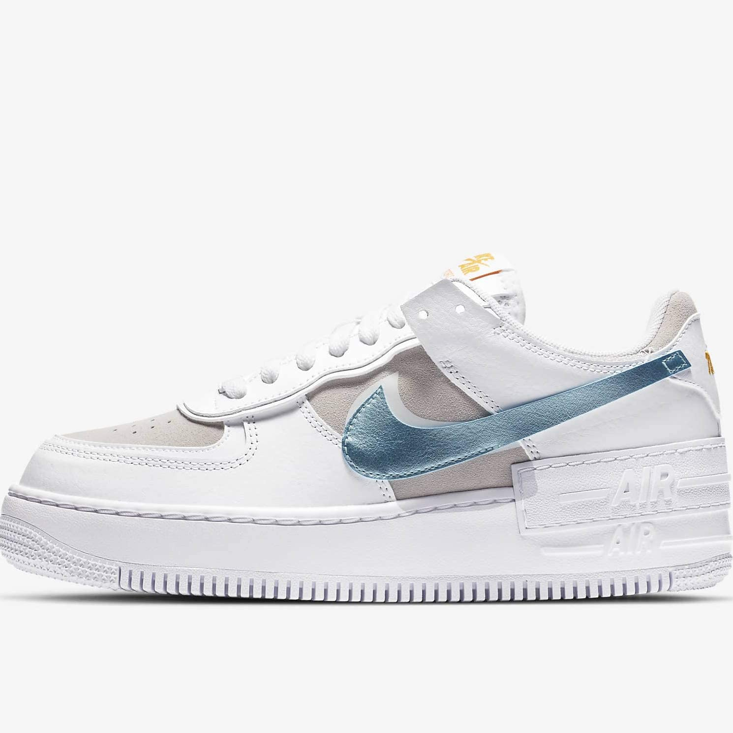 2021 Where To Buy Wholesale Cheap Nike Air Force 1 Shadow White Bust Gray Gold Glacier Ice DA4286-100 - www.wholesaleflyknit.com