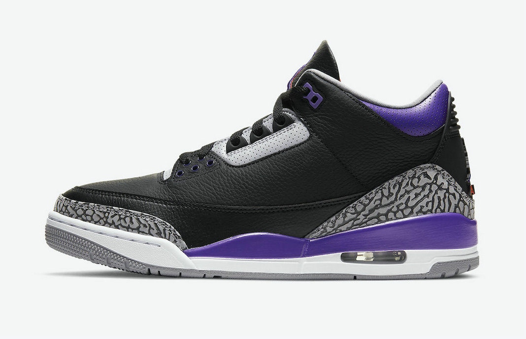 2021 Where To Buy Cheap Nike Air Jordan 3 Black Cement Grey-White-Court Purple CT8532-050 - www.wholesaleflyknit.com