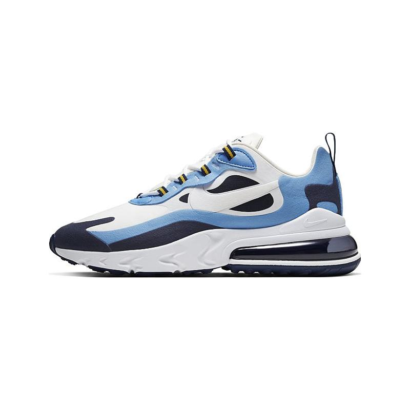 2021 Where To Buy Wholesale Cheap Nike Air Max 270 React Air Max 270 React Midnight Navy University Blue White CT1264-104 - www.wholesaleflyknit.com