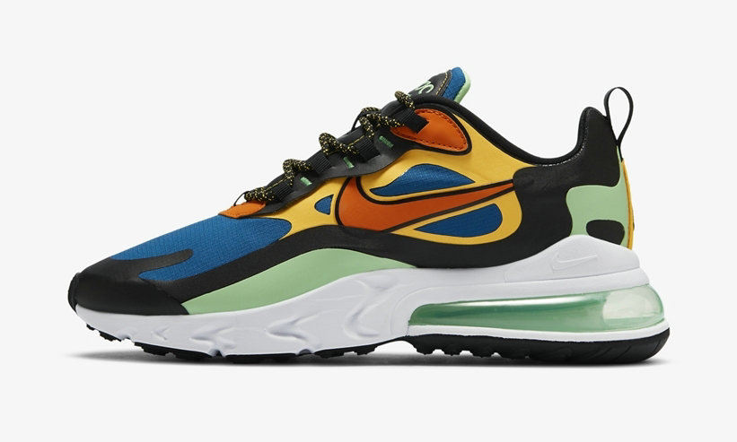 2021 Where To Buy Wholesale Cheap Nike Air Max 270 React Green Abyss Laser Orange CZ7869-300 - www.wholesaleflyknit.com