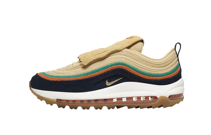 2021 Where To Buy Wholesale Cheap Nike Air Max 97 Golf G NRG Obsidian Starfish Neptune Green Celestial GoldCJ0563-400 - www.wholesaleflyknit.com