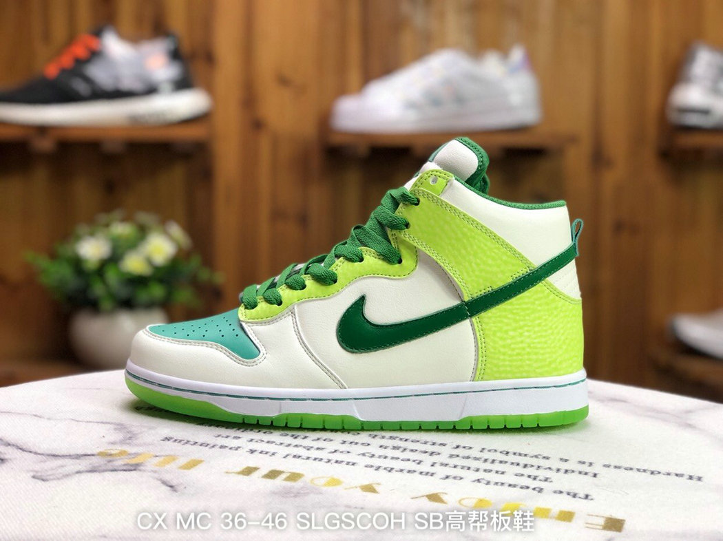 2021 Where To Buy Wholesale Cheap Nike Dunk High Premium Glow In The Dark White Classic Green-Radiant Green 312786-131 - www.wholesaleflyknit.com