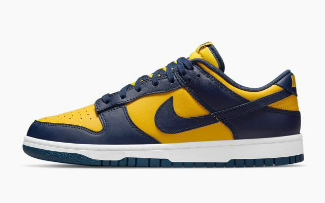 2021 Where To Buy Wholesale Cheap Nike Dunk Low Michigan Varsity Maize Midnight Navy-White DD1391-700 - www.wholesaleflyknit.com