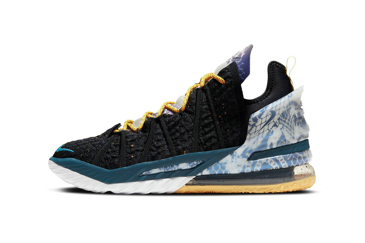 2021 Where To Buy Wholesale Cheap Nike LeBron 18 EP Reflections Black Bleached Aqua Topaz Gold Dark Teal DB7644-003 - www.wholesaleflyknit.com