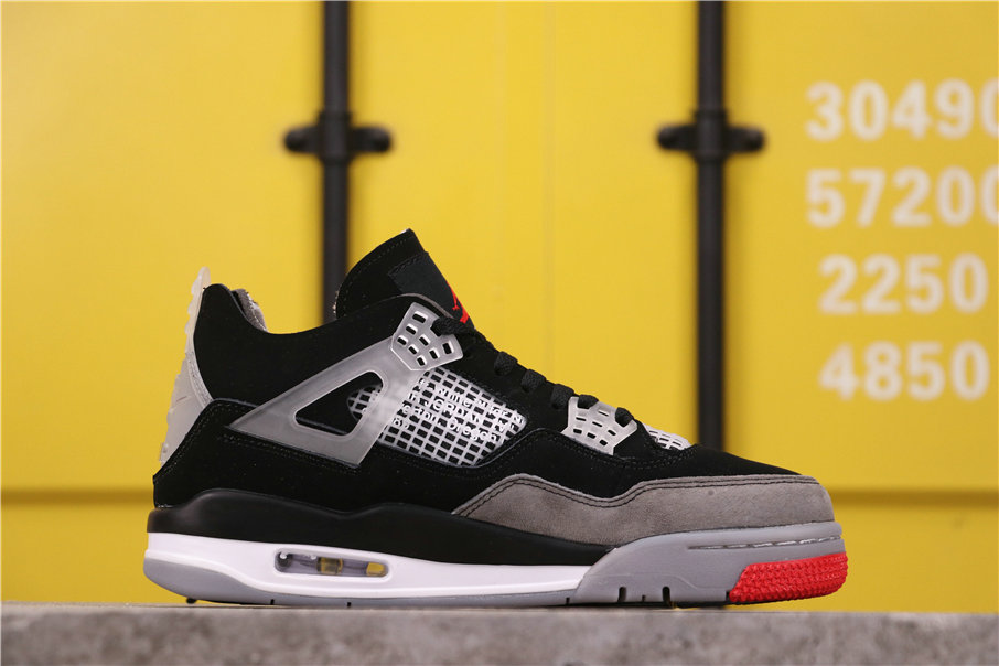 2021 Where To Buy Wholesale Cheap Off White X Air Jordan 4 Retro Bred AQ9129-412 - www.wholesaleflyknit.com