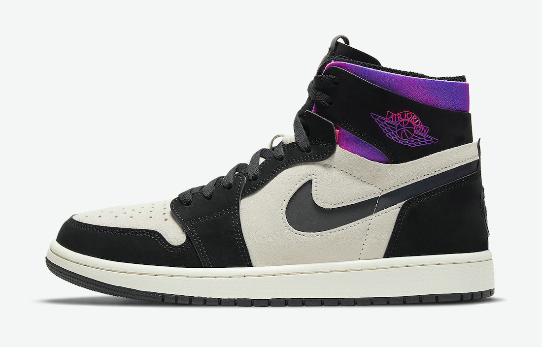 2021 Where To Buy Wholesale Cheap PSG x Air Jordan 1 Zoom Comfort  White Black Psychic Purple Hyper Pink DB3610-105 - www.wholesaleflyknit.com