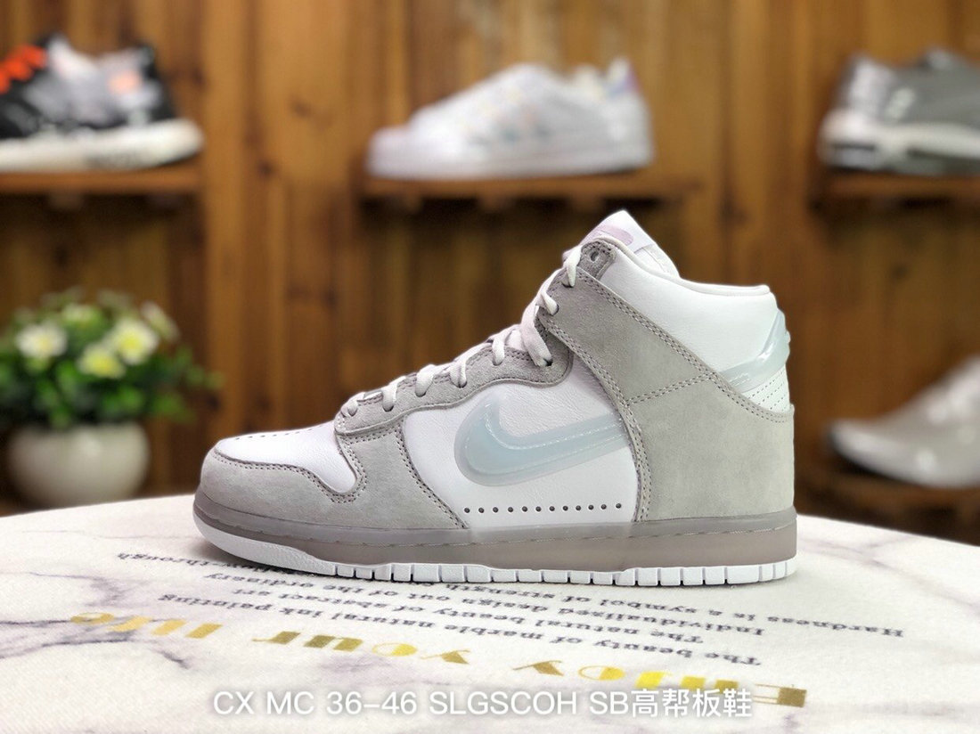 2021 Where To Buy Wholesale Cheap Slam Jam x Nike Dunk High White Platinum DA1639-100 - www.wholesaleflyknit.com